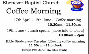 Coffee morning dates April18